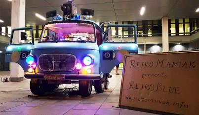 RetroBlue Night Werbebild NdK Uni Bielefeld 2018